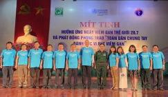Mít tinh Hưởng ứng Ngày Viêm gan Thế giới (28/7) và Phát động Phong trào Toàn dân chung tay đánh gục vi rút viêm gan tại thành phố Hưng Yên