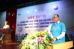 """Statement of Dr Kidong Park WHO Representative in Viet Nam, on the occasion of the COMMEMORATE THE WORLD HEPATITIS DAY 2019 AND LAUNCHING of """"ALL PEOPLE JOIN HANDS TO COMBAT HEPATITIS"""" Hung Yen, 19 July 2019"""