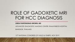 Vai trò của Gadoxetic MRI trong chẩn đoán HCC
