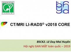 CT/MRI LI-RADS v2018 CORE