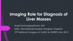 Imaging Role for Diagnosis of Liver Masses