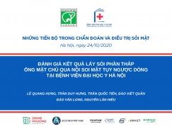 Đánh giá kết quả lấy sỏi phần thấp ống mật chủ qua nội soi mật tụy ngược dòng tại bệnh viện Đại học Y Hà Nội