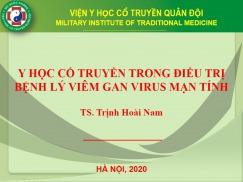 Y HỌC CỔ TRUYỀN TRONG ĐIỀU TRỊ BỆNH LÝ VIÊM GAN VIRUS MẠN TÍNH