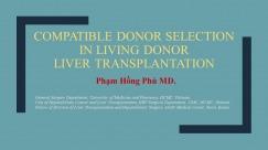 Tiêu chuẩn lựa chọn người hiến gan còn sống