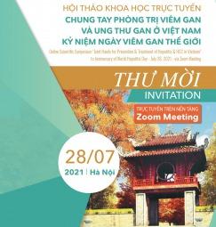 Thư mời Hội thảo khoa học trực tuyến chung tay phòng trị viêm gan và ung thư gan ở Việt Nam