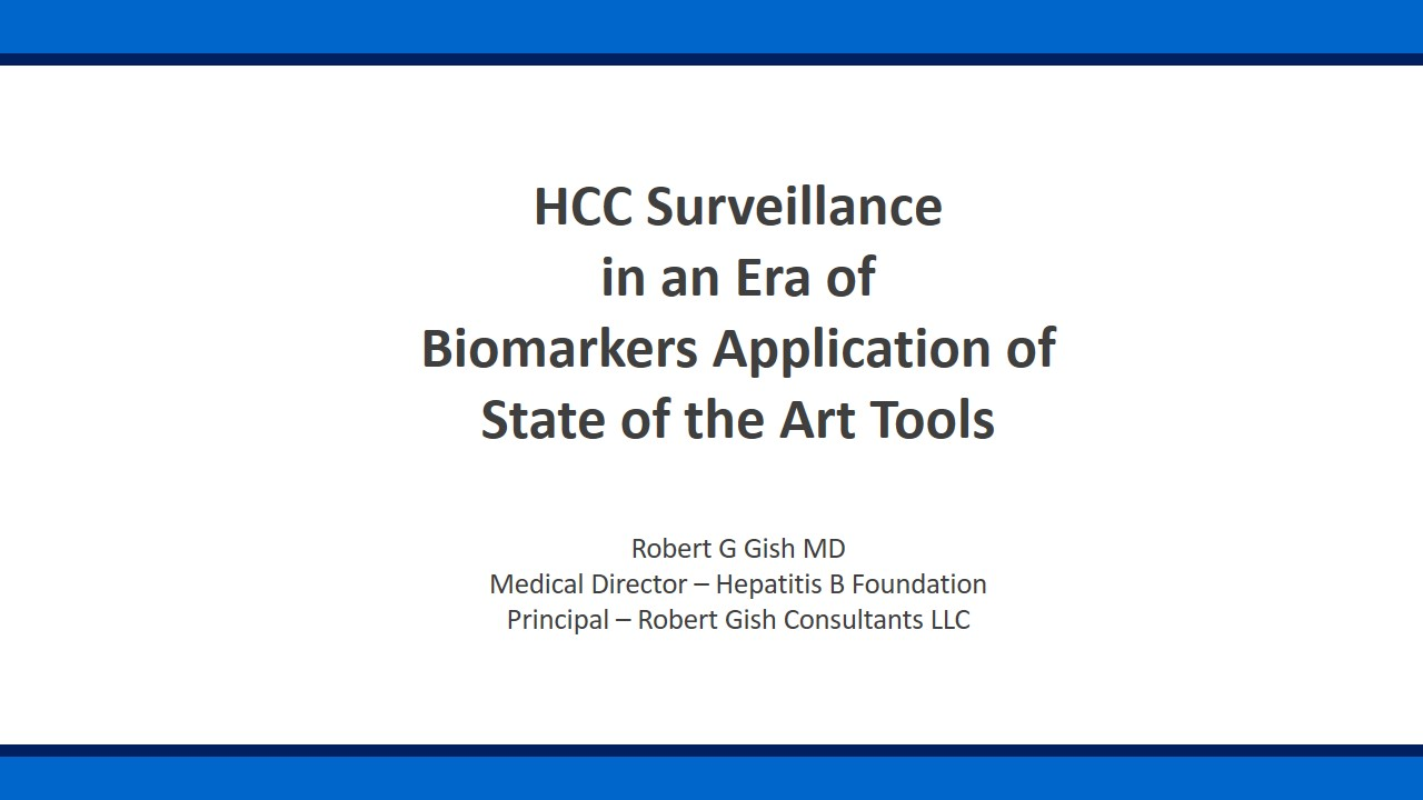 HCC Surveillance in an Era of Biomarkers Application of State of the Art Tools